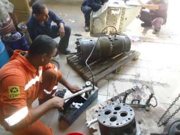 Pressure testing reuse units